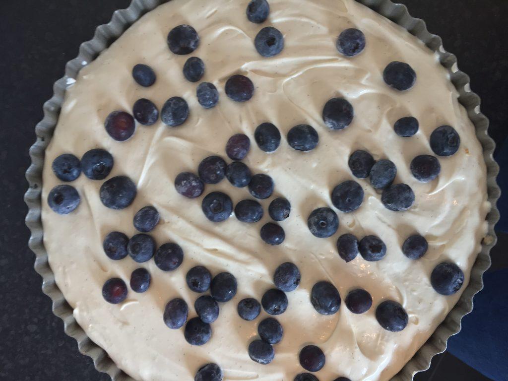blueberry and vanilla cheesecake