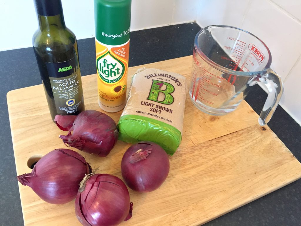 red onion jam ingredients