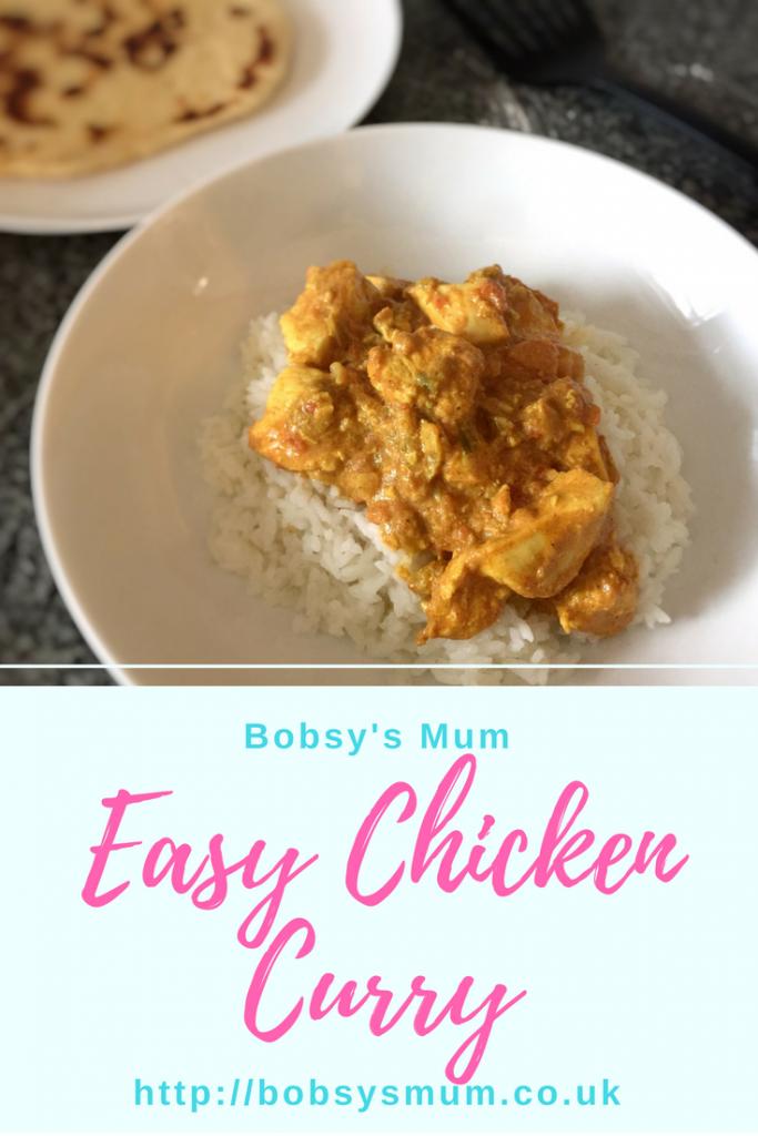 easy chicken curry Pinterest