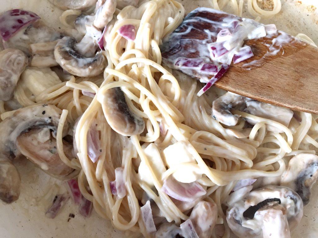 mushroom and halloumi