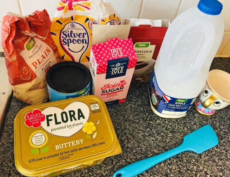 Homemade Custard Cream Ingredients