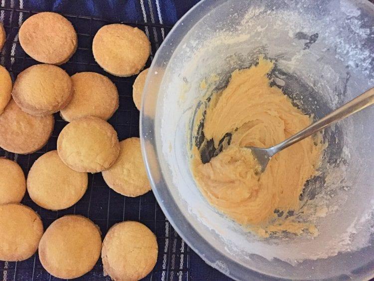 Custard Cream Filling in Mixing bowl