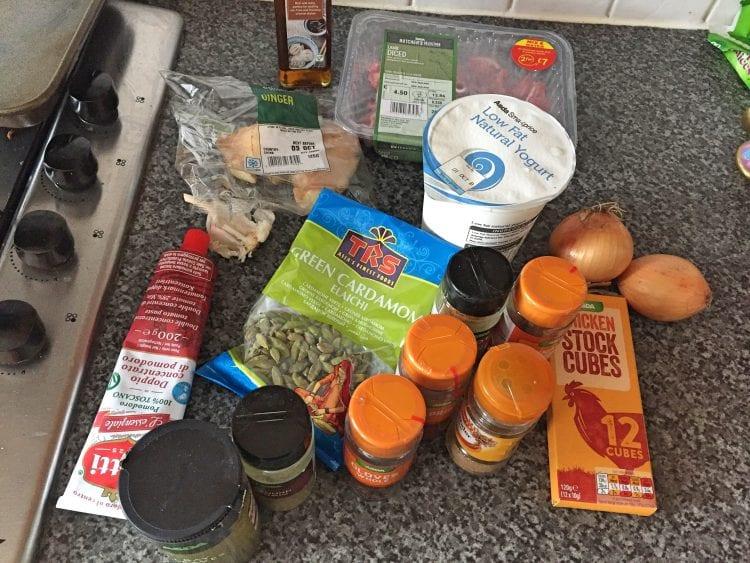 ingredients on side