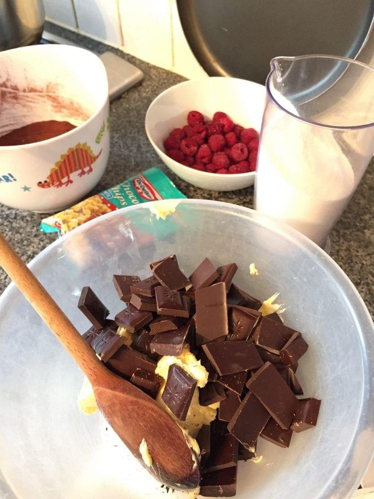 Valentine's Brownies Ingredients