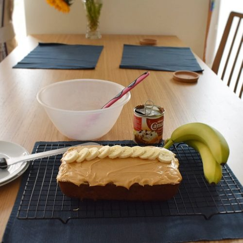 Banoffee loaf cake is super sweet and moist. A great afternoon pick me up!