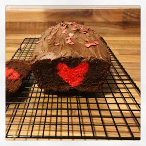 This Chocolate Heart Surprise Cake is the perfect Valentine's Day treat!