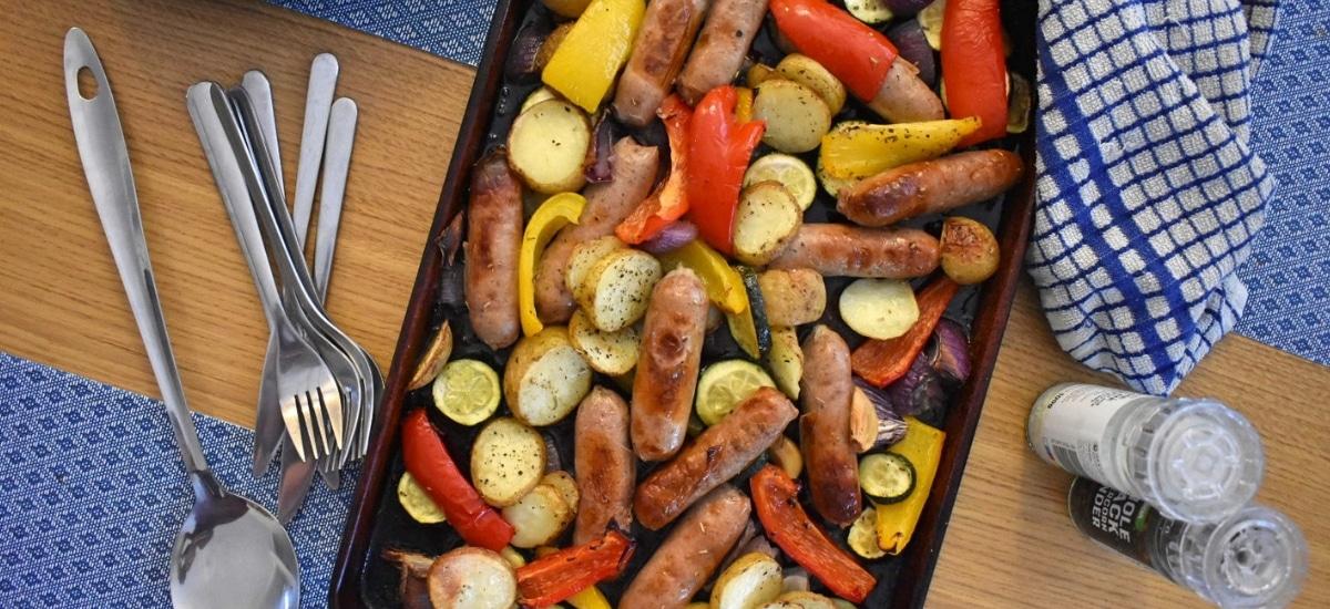 Simple Sausage Traybake