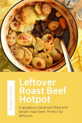 Looking for something to do with all of that yummy leftover roast beef? Why not throw it in a hotpot with some tasty veg and potatoes for another delicious family meal? Perfect whether you are cooking on a tight budget or trying to cut your food waste.