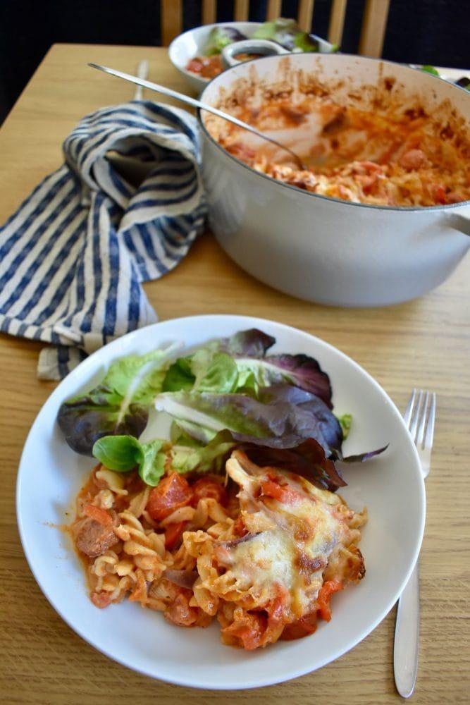Chicken And Chorizo Pasta Bake - Fabulous Family Food By ...